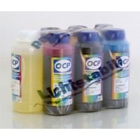 Комплект чернил OCP для Epson Claria (BK 140 (340), C142, M/Y 140, ML/CL 141) с промывочной жидкость