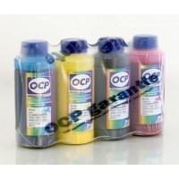 Комплект чернил OCP для Epson Dura Brite x5 RC STABLE (BKP 110, CP 115, MP/YP 102, RSL) с промывочн