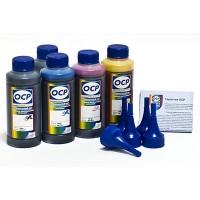 Комплект чернил OCP для Epson XP600 (BKP 115, BK/C/M/Y 140) повышенной светостойкости x5