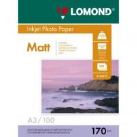 Бумага Lomond A3 170г/м2 2-ст, матовая, 100л. (0102012)
